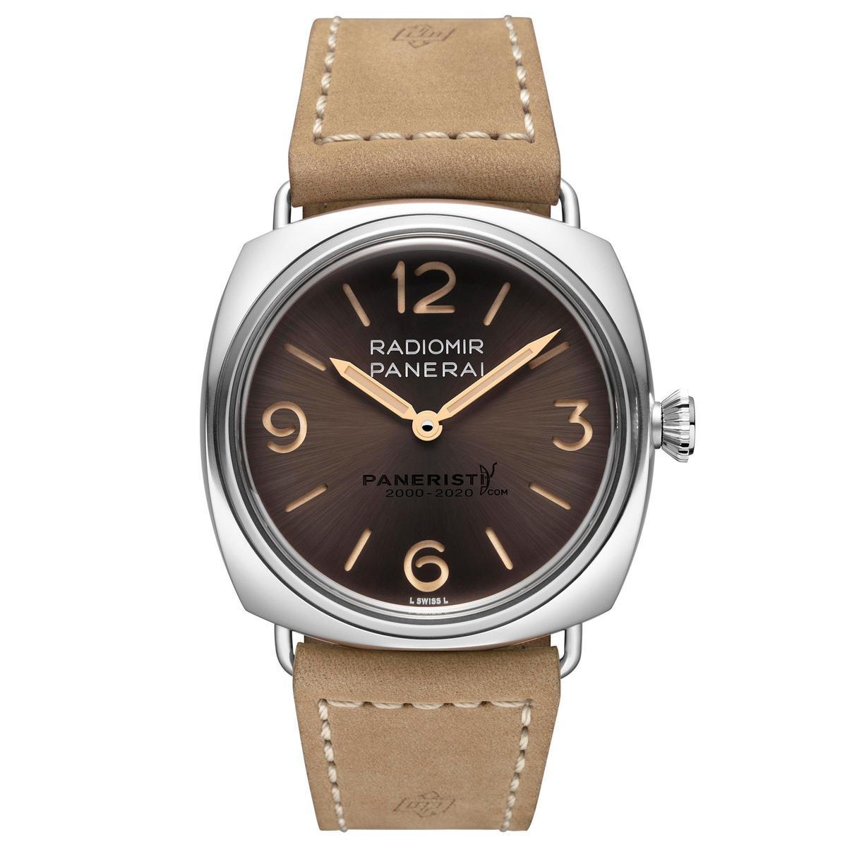 全新Radiomir Venti腕錶限量1020只,建議售價NT$204,500。