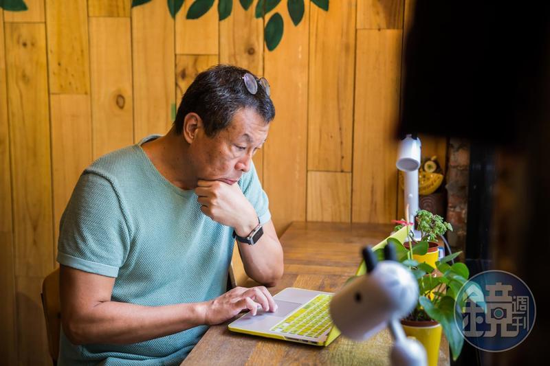 退休後田臨斌不再看業務報表,每個月只看自己的2張Excel財務表。