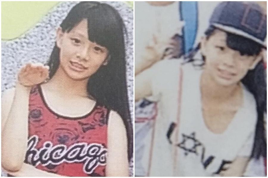 青青小時候的照片被挖出,青澀模樣與現在判若兩人。(翻攝自批踢踢)