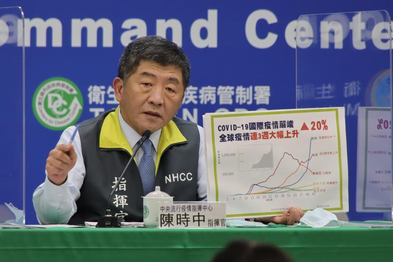 指揮官陳時中提醒,全球疫情仍相當嚴峻,民眾應多洗手、戴口罩。(指揮中心提供)