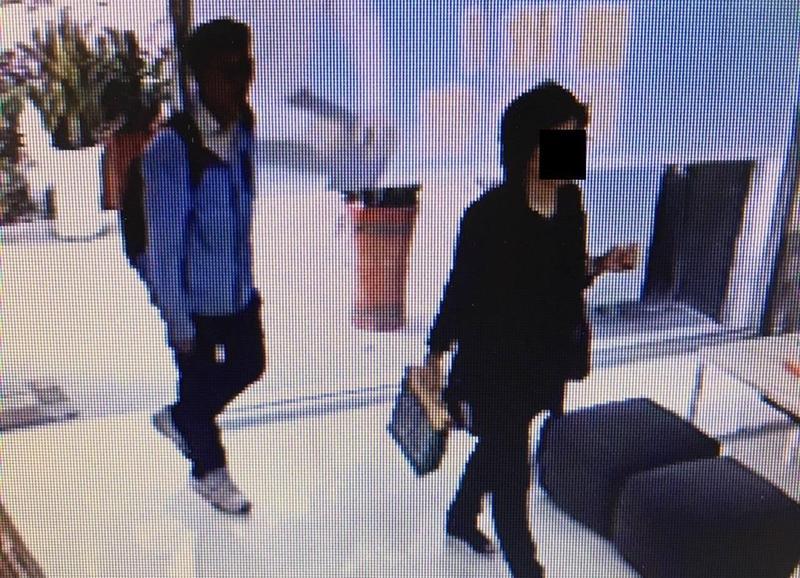 江媽集團被踢爆後負責人神隱,不久前卻派出一男一女前往議員服務處踢館。(翻攝畫面)