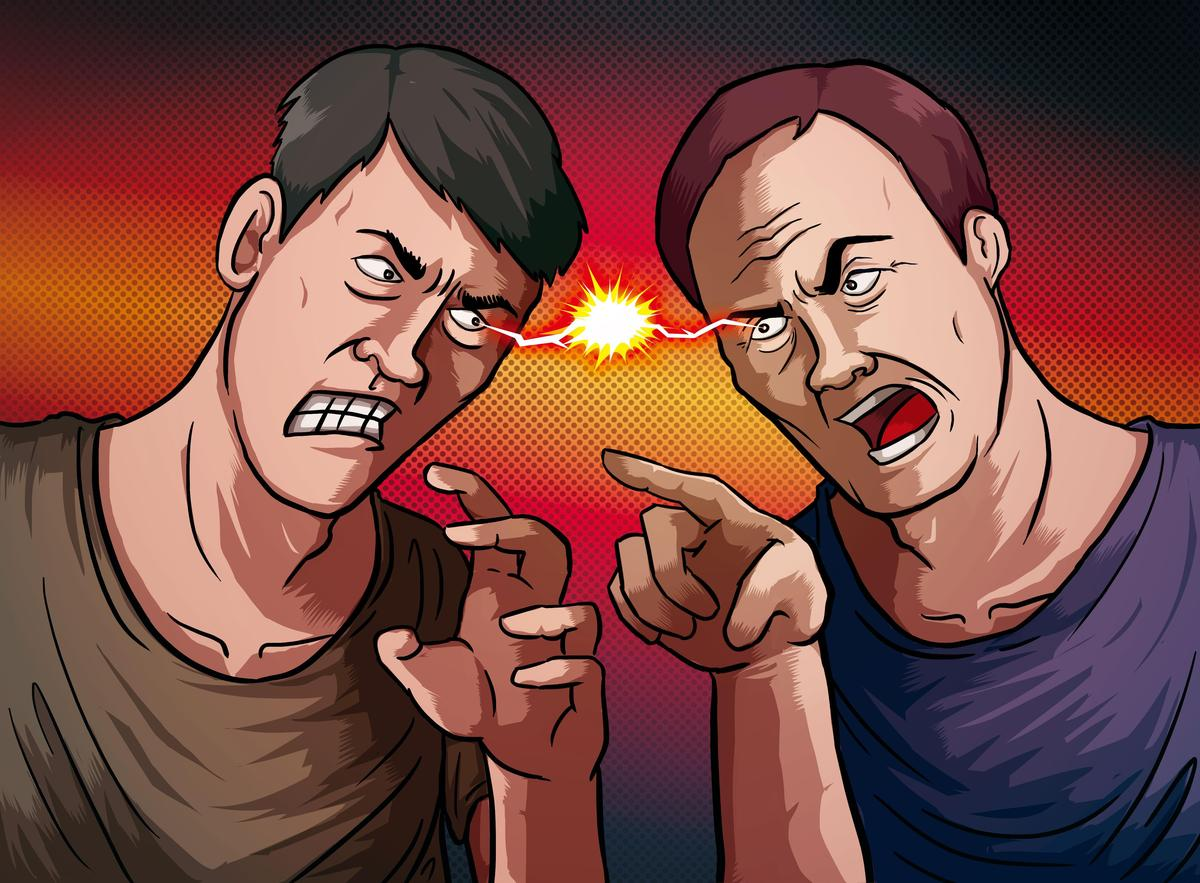 楊慶順(右)因賭場利益問題,與外甥徐志新(左)撕破臉,徐因此買凶殺舅。(圖為示意畫面)