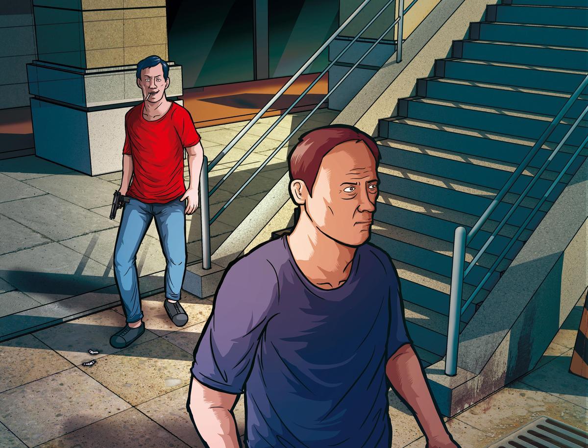 黃福生埋伏在楊慶順小三住家附近的天橋旁,見楊出現便尾隨開槍奪命。(圖為示意畫面)