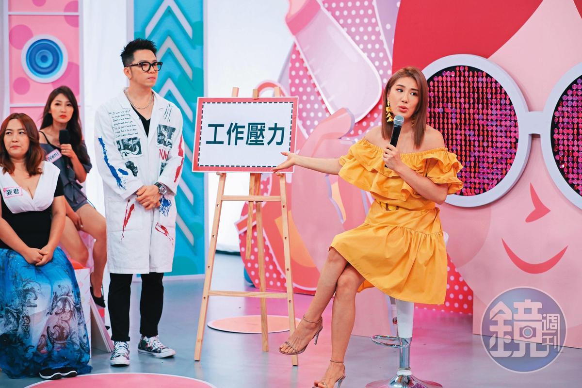 小禎(右)目前手上剩《聽媽媽的話》和《姊妹讚出來》兩個節目。