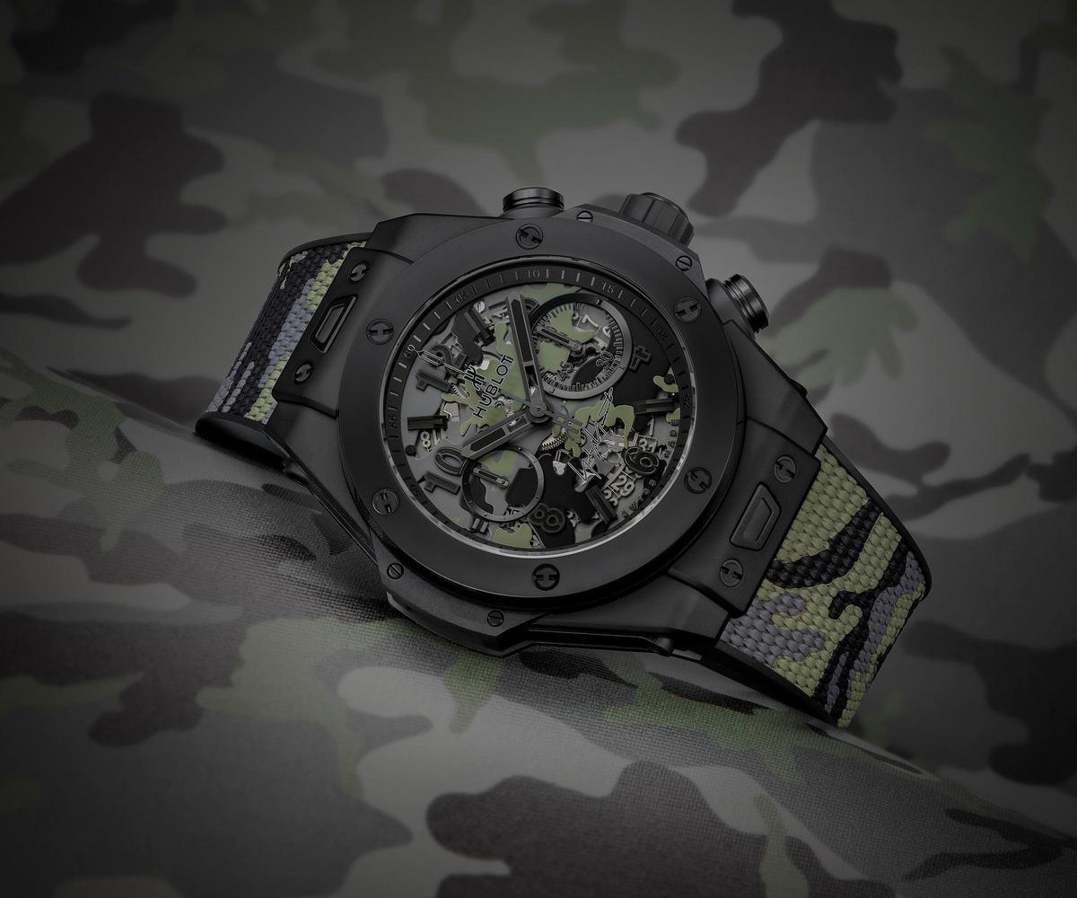 Big Bang Unico迷彩山本耀司腕錶,限量發行200只,建議售價NT$710,000。