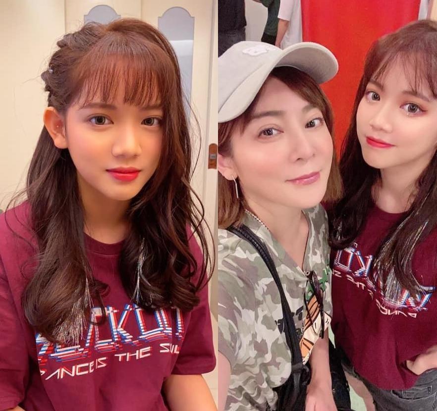 王彩樺去年替黃昺翔拍攝MV,讓大女兒「順勢出道」露臉。(翻攝自王彩樺IG)