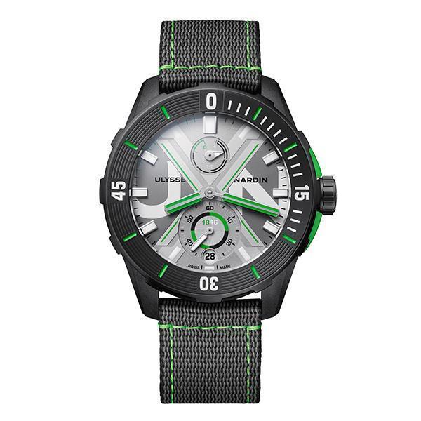 Diver Net概念錶|錶徑44mm/回收漁網及海洋回收塑料錶殼/時間及日期指示、計時碼錶功能、動力儲存指示/UN-118自動上鏈機芯/防水約300米
