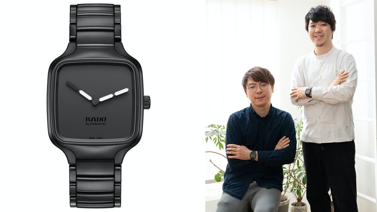 由小野直紀(Naoki Ono)、和產品設計師山本侑樹(Yuki Yamamoto)在2011年成立的YOY,設計範疇包括家具、燈具以及室內空間,以材質和顏色大玩錯視的設計巧思,讓他們的作品總是帶有讓人莞爾一笑的創意。這次幫RADO設計的錶款也以顏色區隔出時分針,是很符合他們風格的設計。