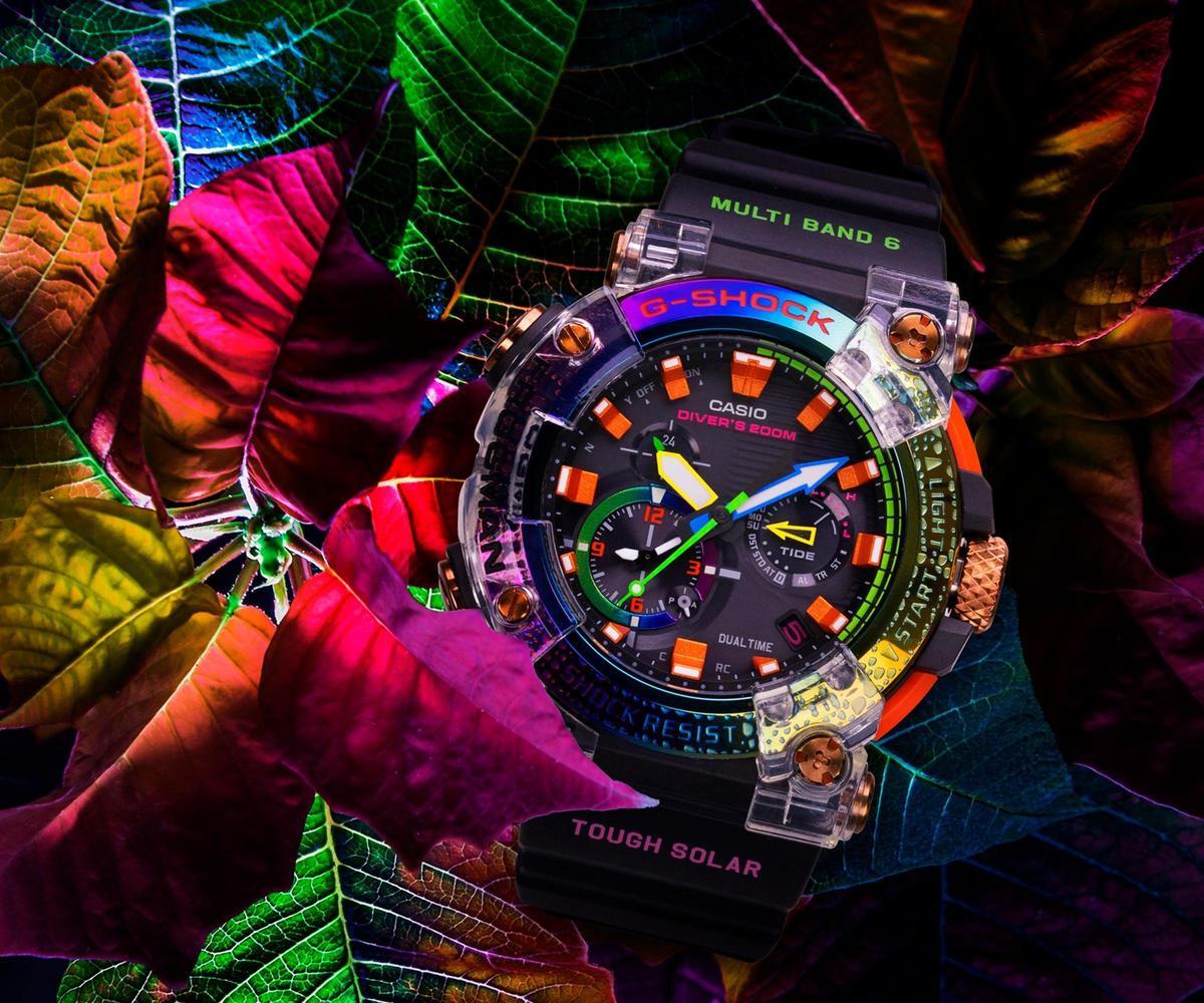 FROGMAN GWF-A1000BRT彩虹毒蛙,建議售價NT$32,000。