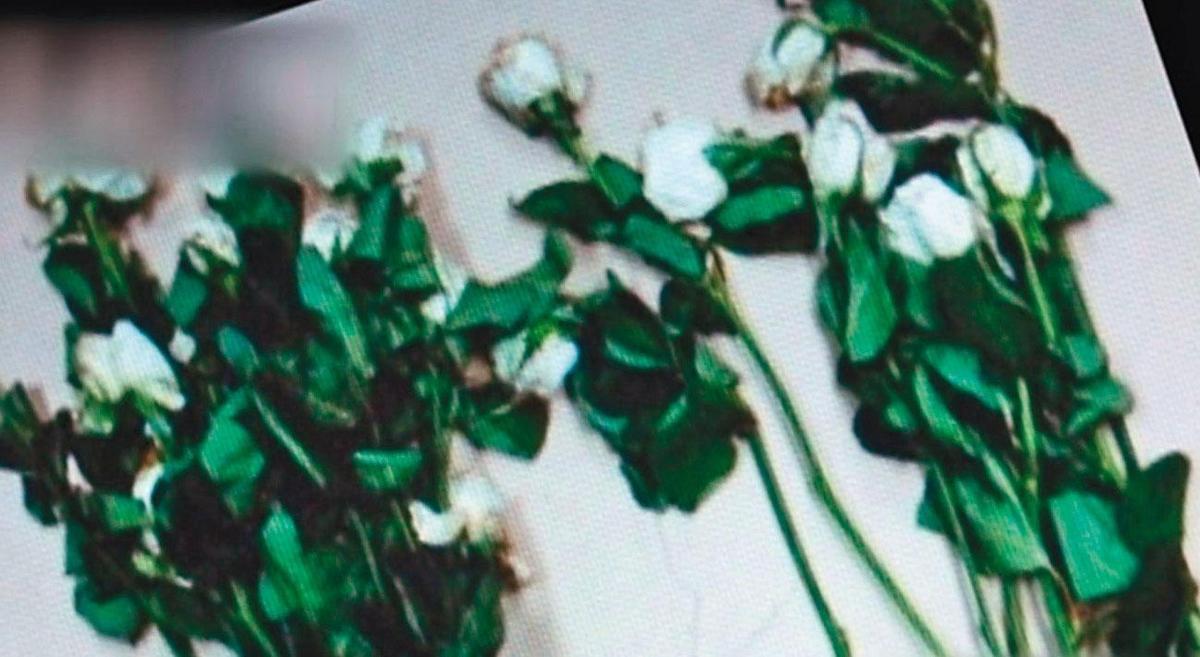凶手在死者頭七當天,買了20朵白玫瑰,重返命案現場祭拜。(東森新聞提供)