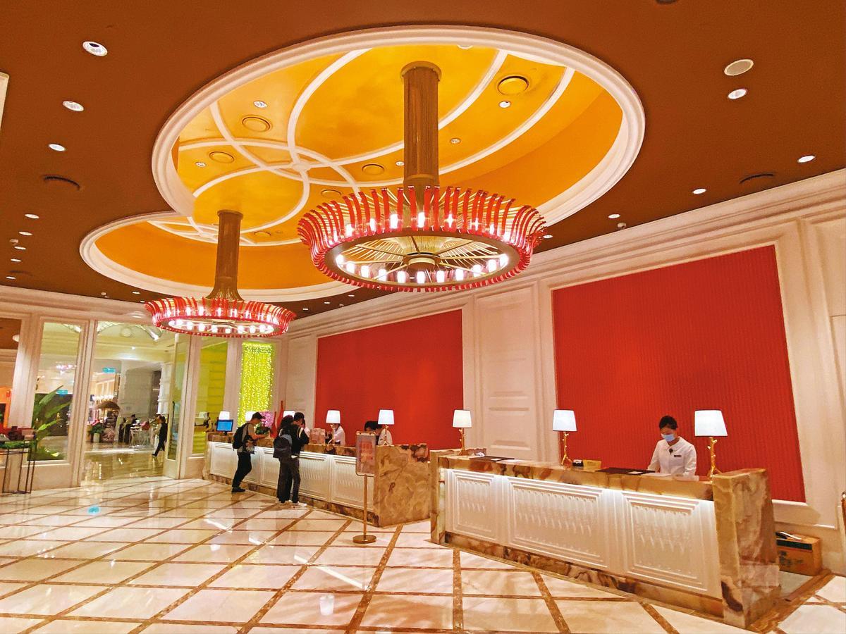 這次拍桶會在有309間客房的台中林酒店舉辦,挑高的接待大廳相當氣派。