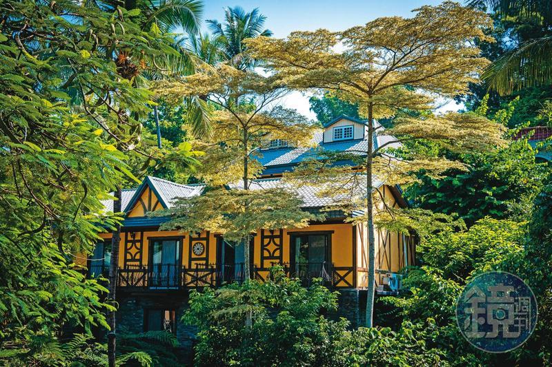 「大坑休閒農場」中有幾棟歐風別墅,讓人彷彿置身歐洲鄉野。