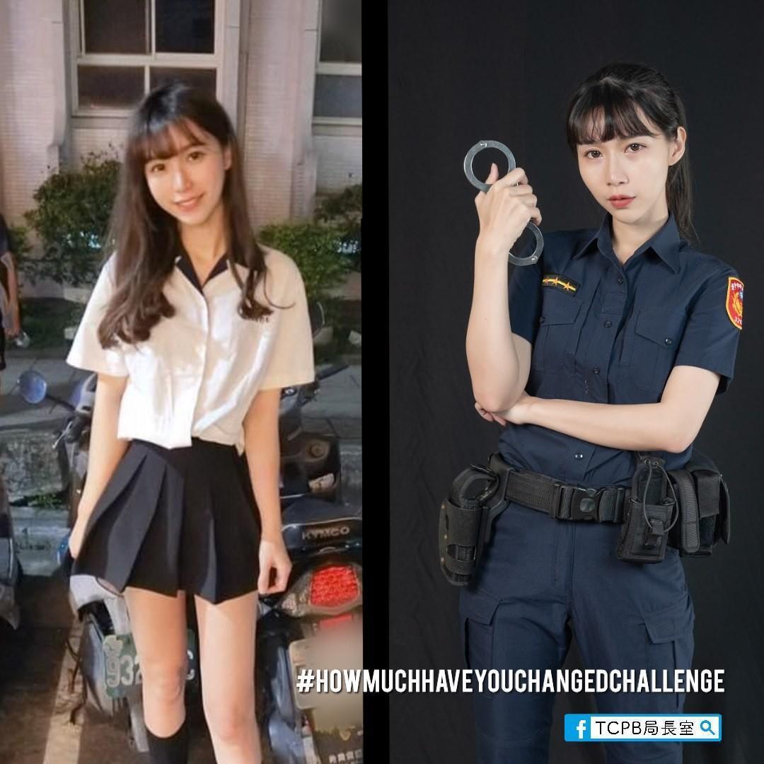 正妹女警高中制服照曝光,掀起網友關注。(翻攝自TCPB 局長室臉書)