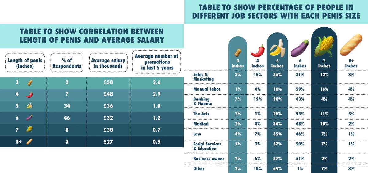 英國網站分析陰莖長度與收入和工作的關係。(圖/OnBuy)