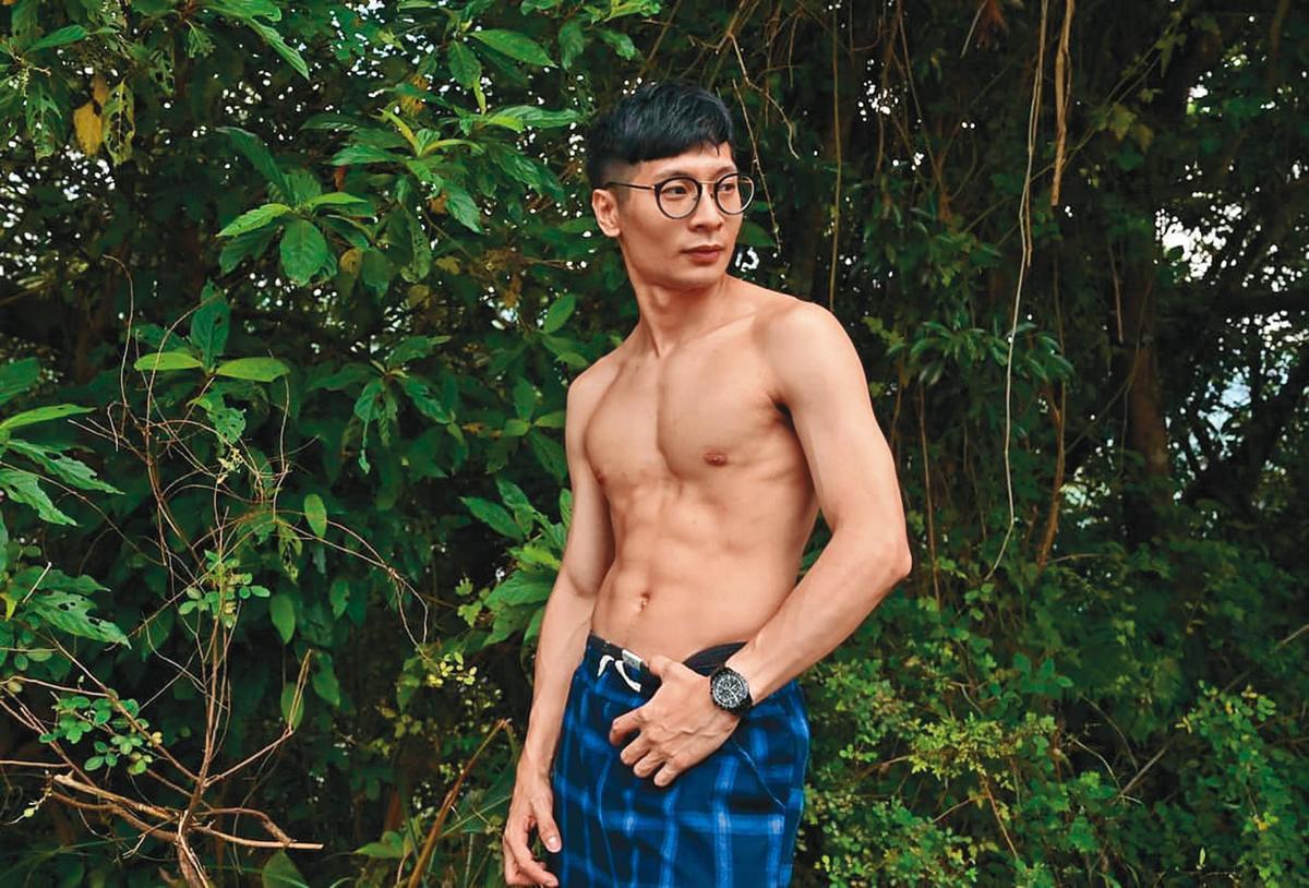 逸祥私下很喜歡健身,當兵放假會為了運動,放棄與女友相聚的機會。(翻攝自逸祥IG)