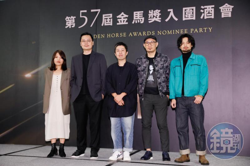 新導演組競爭激烈,被稱為「死亡之組」。左起柯貞年、許承傑、廖明毅、張吉安、陳健朗。
