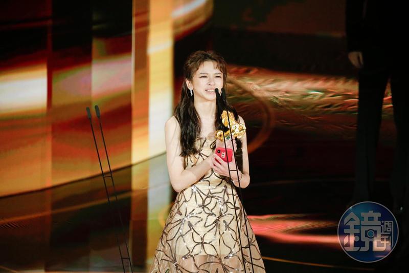陳姸霏以《無聲》拿下新演員獎,得獎之時覺得眼前都在地震。