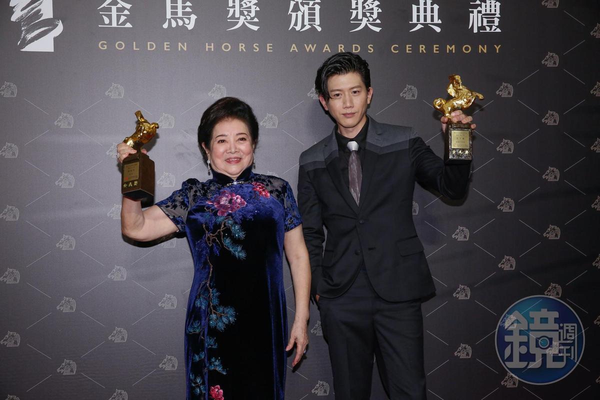 今年陳淑芳(左)連拿金馬獎最佳女配角、女主角兩個獎項,與最佳男主角莫子儀(右),都是評審心目中的最愛。