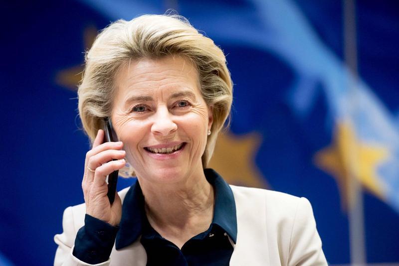 歐盟執行委員會主席范德賴恩推特上表示,致電拜登並向其祝賀,並說這是歐美全球夥伴關係的新起點。(翻攝自Ursula von der Leyen推特)