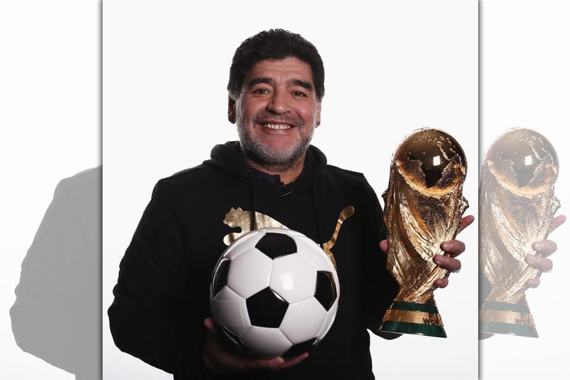 馬拉度納兩度帶領阿根廷闖進世界盃足球賽冠軍戰,1986年率隊捧走金盃。(翻攝自FIFA World Cup臉書)