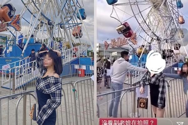 情侶妹遭凱燕(左)在公開限時動態上露出臉蛋公審。(翻攝自情侶妹IG)