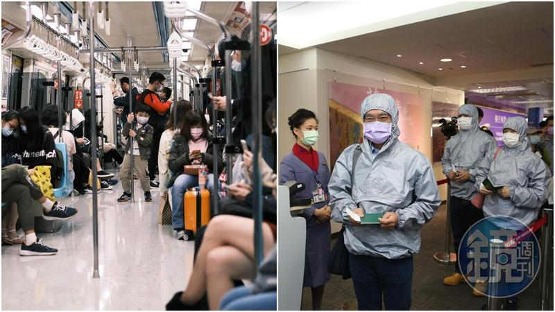 秋冬專案今日啟動,民眾於八大類場所須配戴口罩;示意圖,與當事人無關。(本刊資料照)