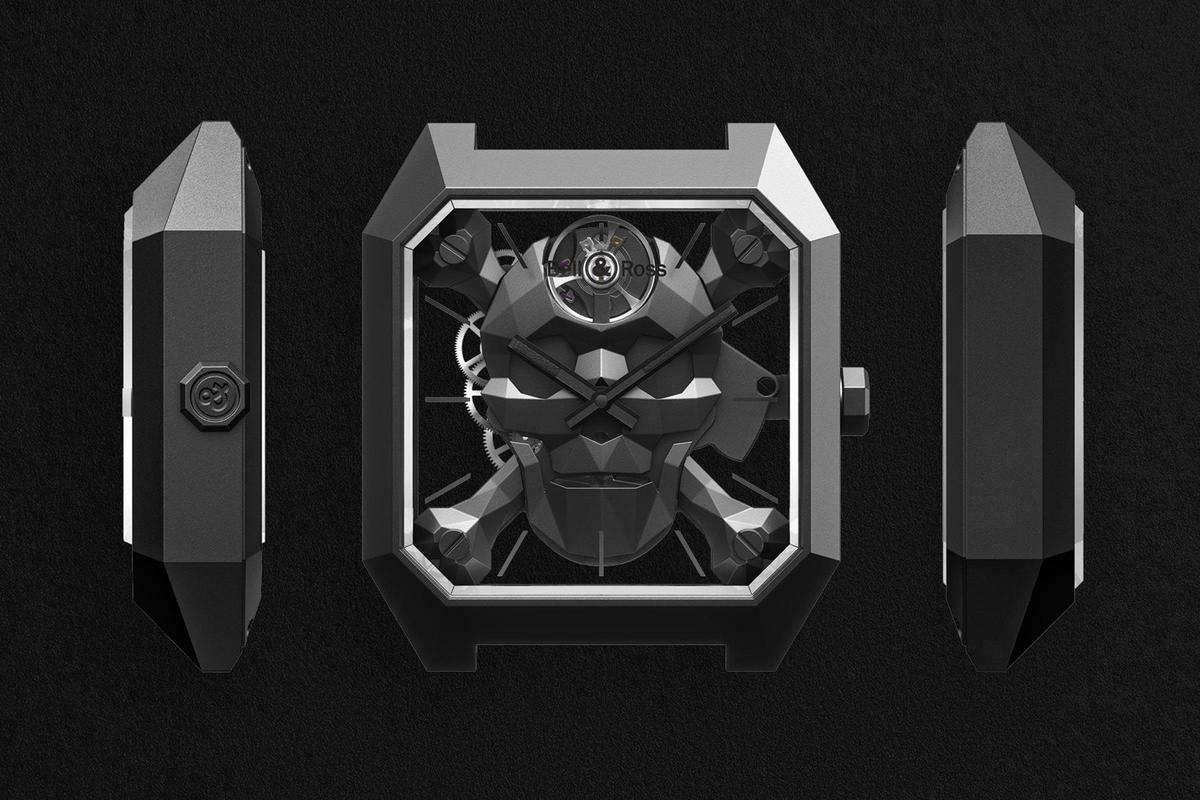 BELL & ROSS BR 01 Cyber Skull腕錶猶如雕塑品的稜角,靈感來自於隱形戰機。