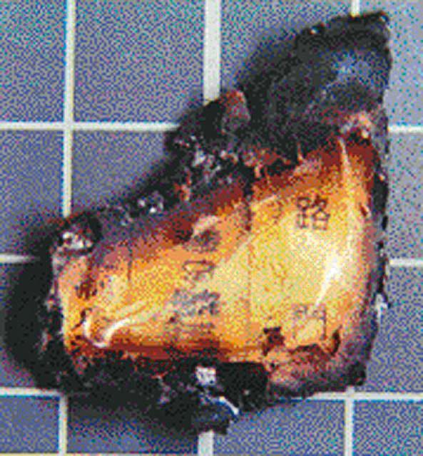 警方尋獲未焚燒完全的身分證殘角,根據上面的地址鎖定歹徒身分。(翻攝畫面)