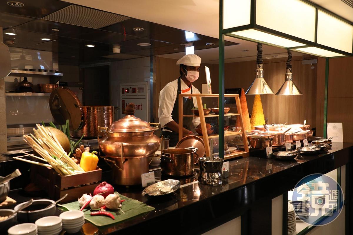 遠東Café的印度菜本就出名,改裝後依然延續優勢,又添加許多東南亞特色菜。