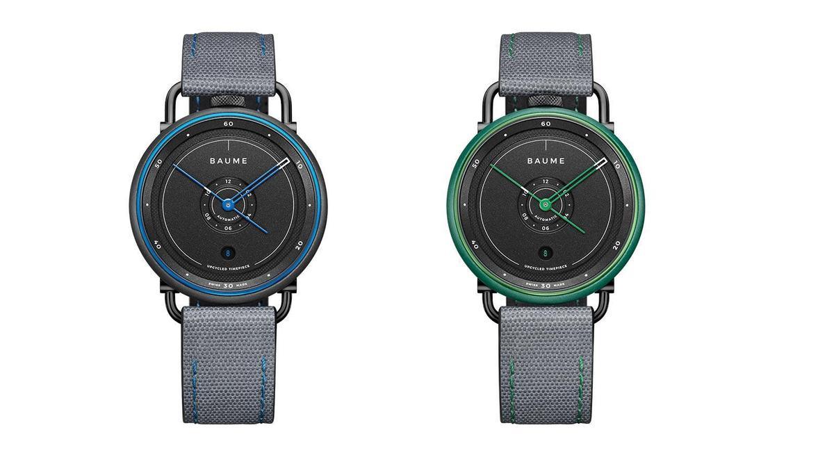 BAUME海洋限定款自動腕錶|錶徑42mm/回收聚丙烯材質錶殼/時間及日期指示/自動上鏈機芯/防水約30米/建議售價USD 1,490 (約台幣42,000)