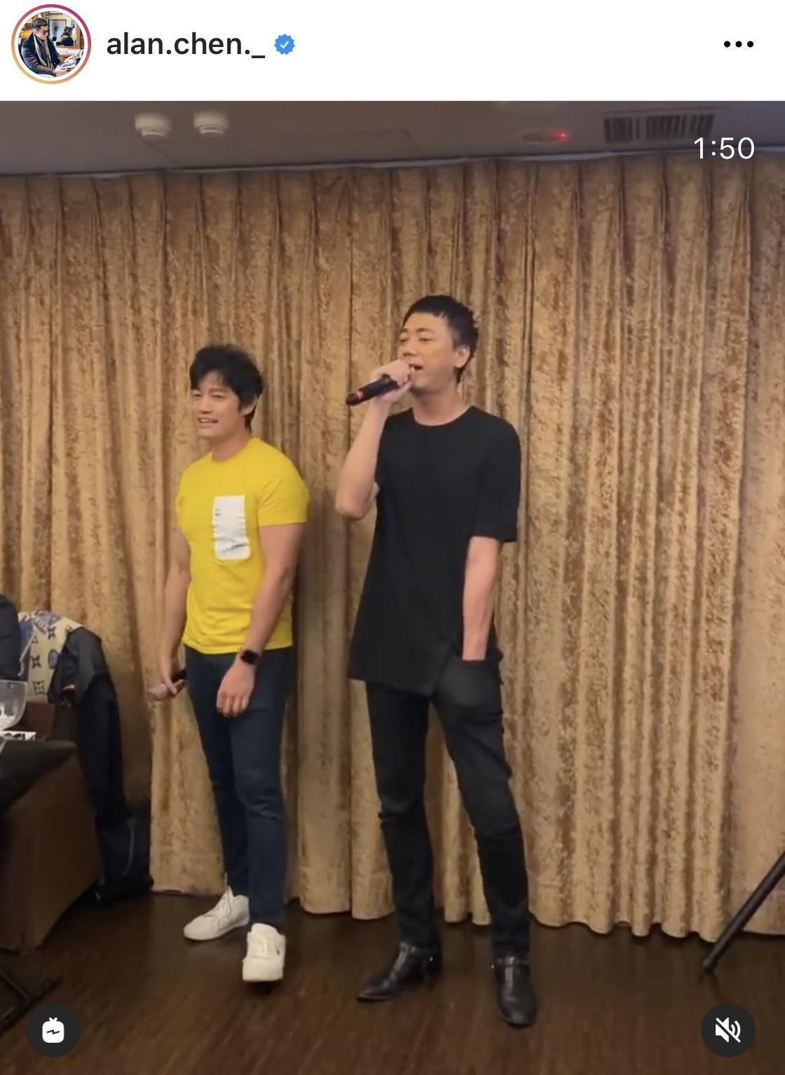 曾偉昌生日派對上歌手阿信也是來賓。(翻攝自曾偉昌IG)