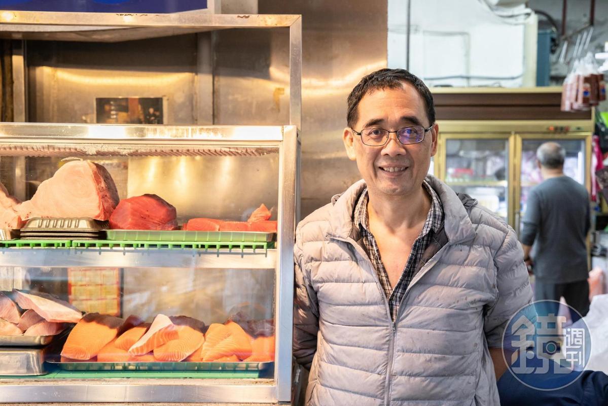 「上乘海鮮」老闆翁秋濤選貨眼光極好,供應米其林2星日本料理及台北許多高級日料餐廳。