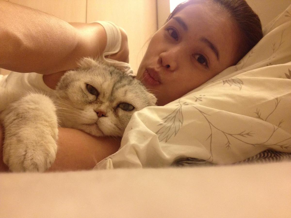 因為家人與貓咪相繼離世,讓她陷入低潮,憂鬱纏身。(林芯儀提供)