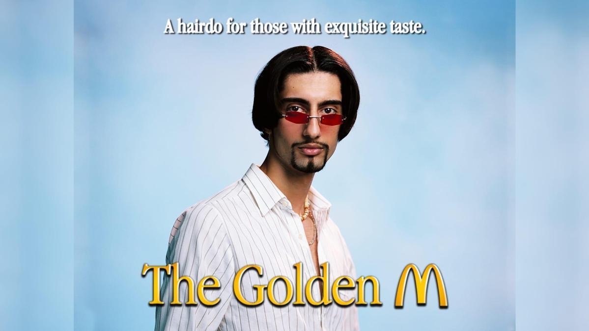 M字頭在90年代曾是蔚為潮流的男士髮型。(翻攝瑞典麥當勞官網)