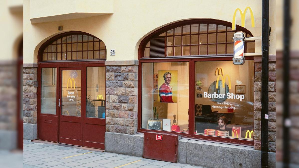 Golden M理髮店開設於瑞典首都斯德哥爾摩。(翻攝瑞典麥當勞官網)