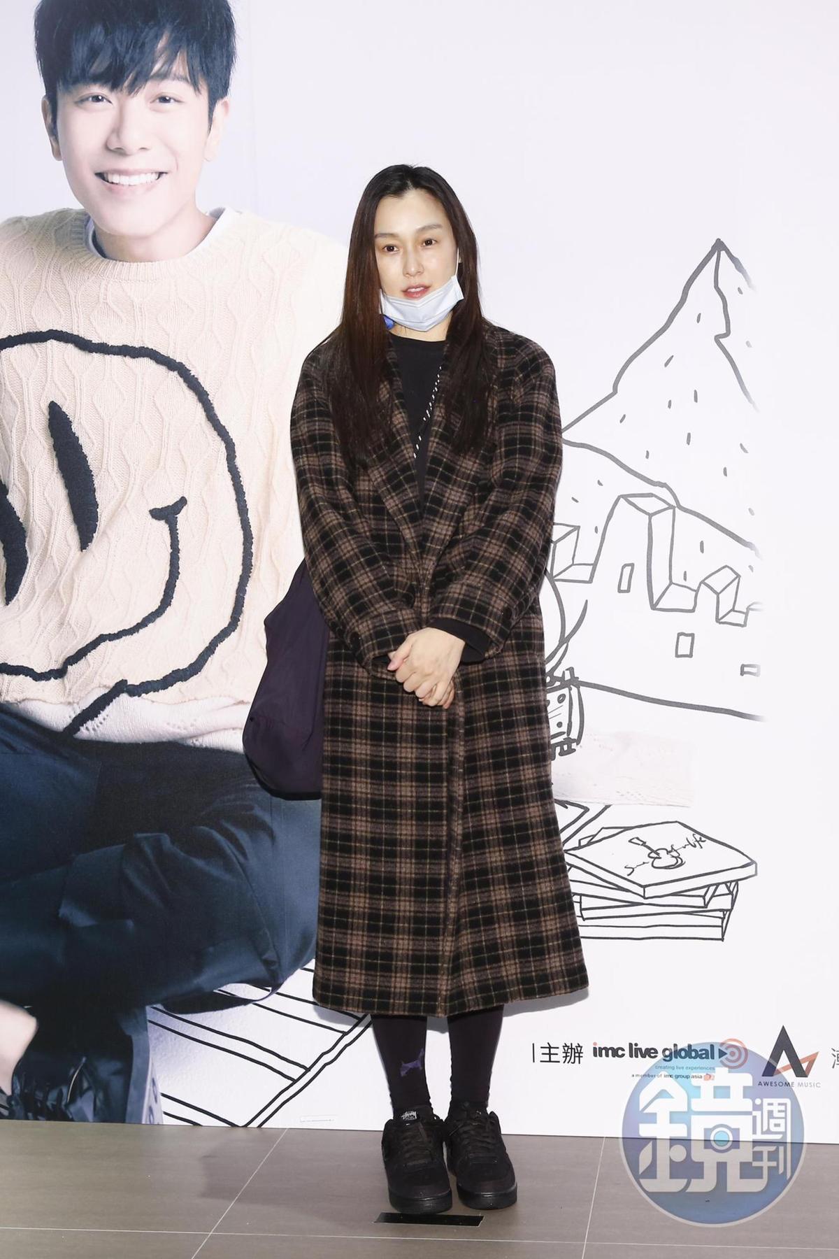 神隱許久的范瑋琪也捧場看韋禮安演唱會。