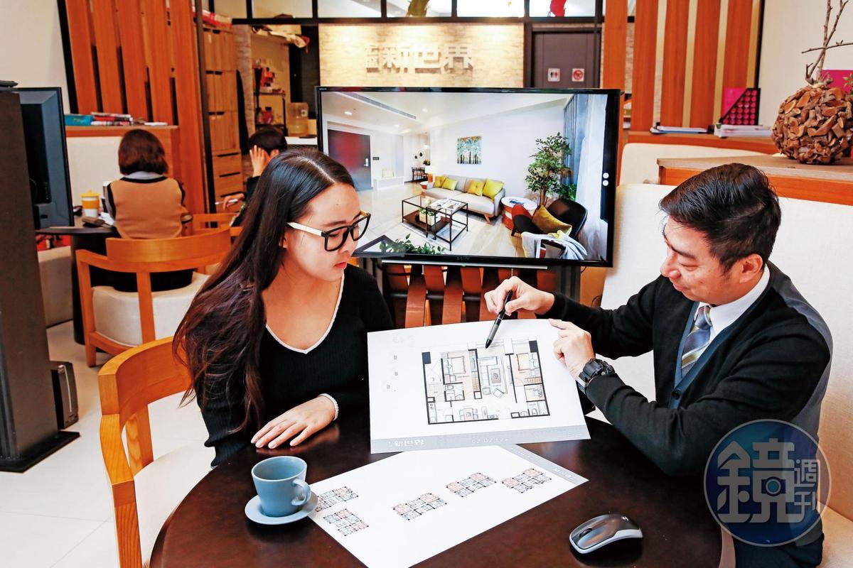 不只讀財報,丁彥鈞還會參考預售屋買氣,判斷個股是否值得投資。