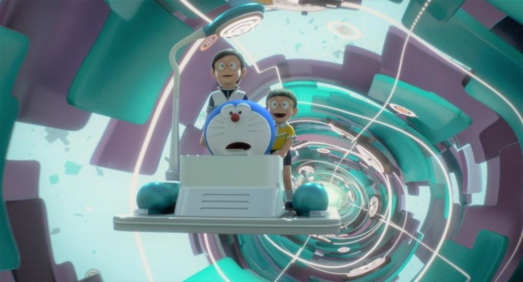 大雄想念過世的奶奶,與哆啦A夢乘時光機回到過去。(車庫娛樂提供)