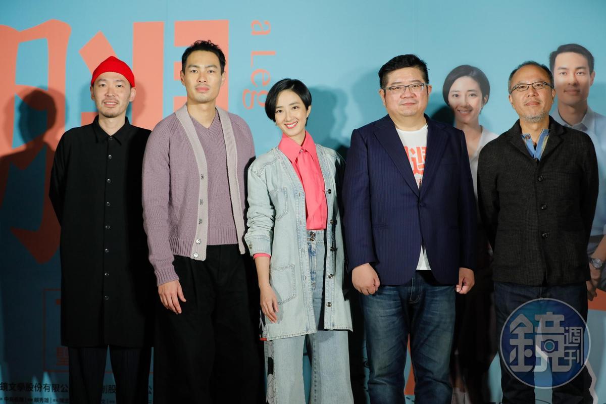 監製鍾孟宏帥導演張耀升、演員楊祐寧、桂綸鎂、張少懷出席首映會。