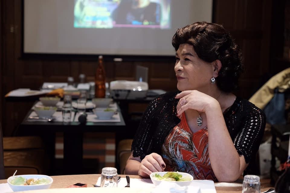 澎恰恰一直未放棄創作,近期演出音樂劇《麗晶卡拉OK的最後一夜》,在舞台上飾演以男扮女裝的造型,詮釋60歲女人心聲。(翻攝澎恰恰臉書)