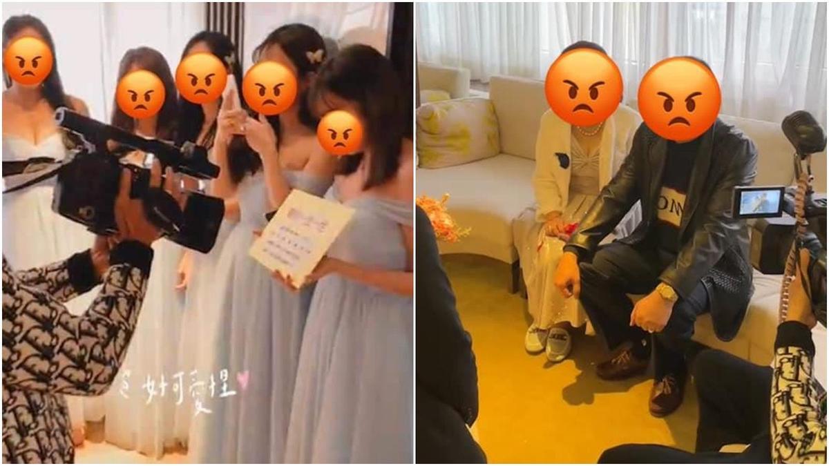 婚錄在一整天的各個儀式都惹出不少爭議,讓新郎、新娘都苦不堪言。(翻攝自爆料公社)