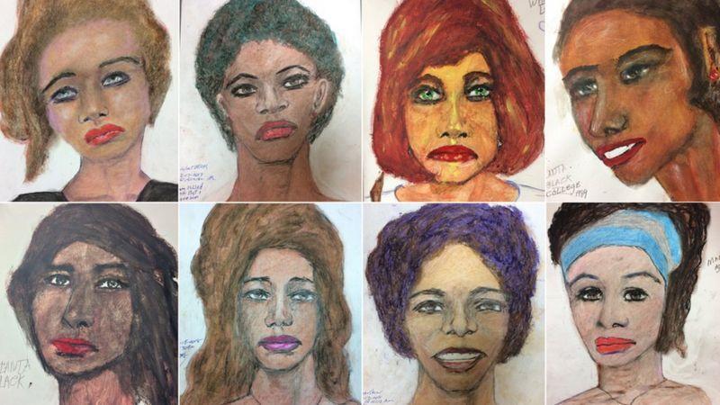 雷托提供FBI幾10幅受害女性畫像,她們大多是黑人女性、社會邊緣人。(翻攝FBI官網)