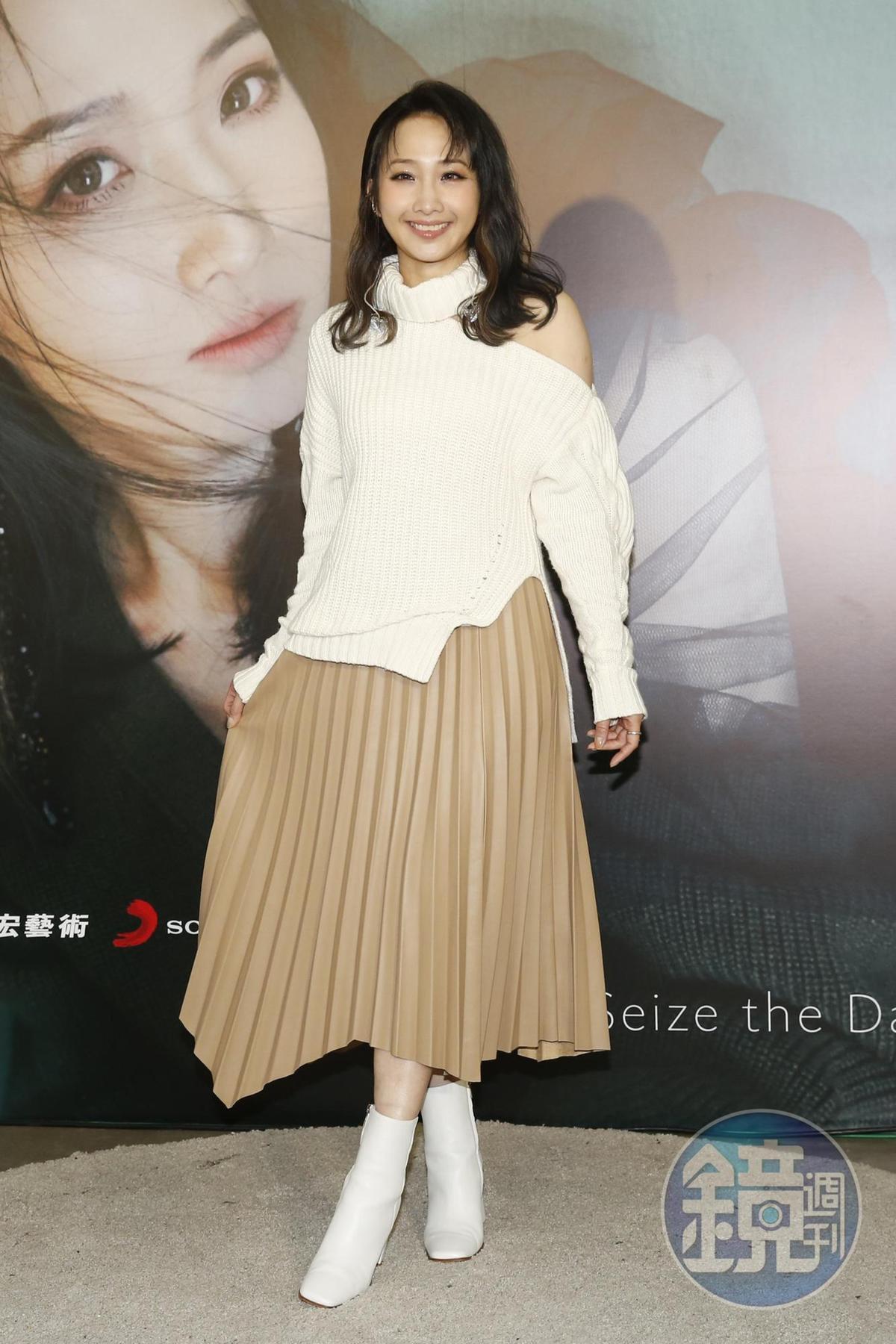 朱俐靜宣傳新專輯《來日方長》。