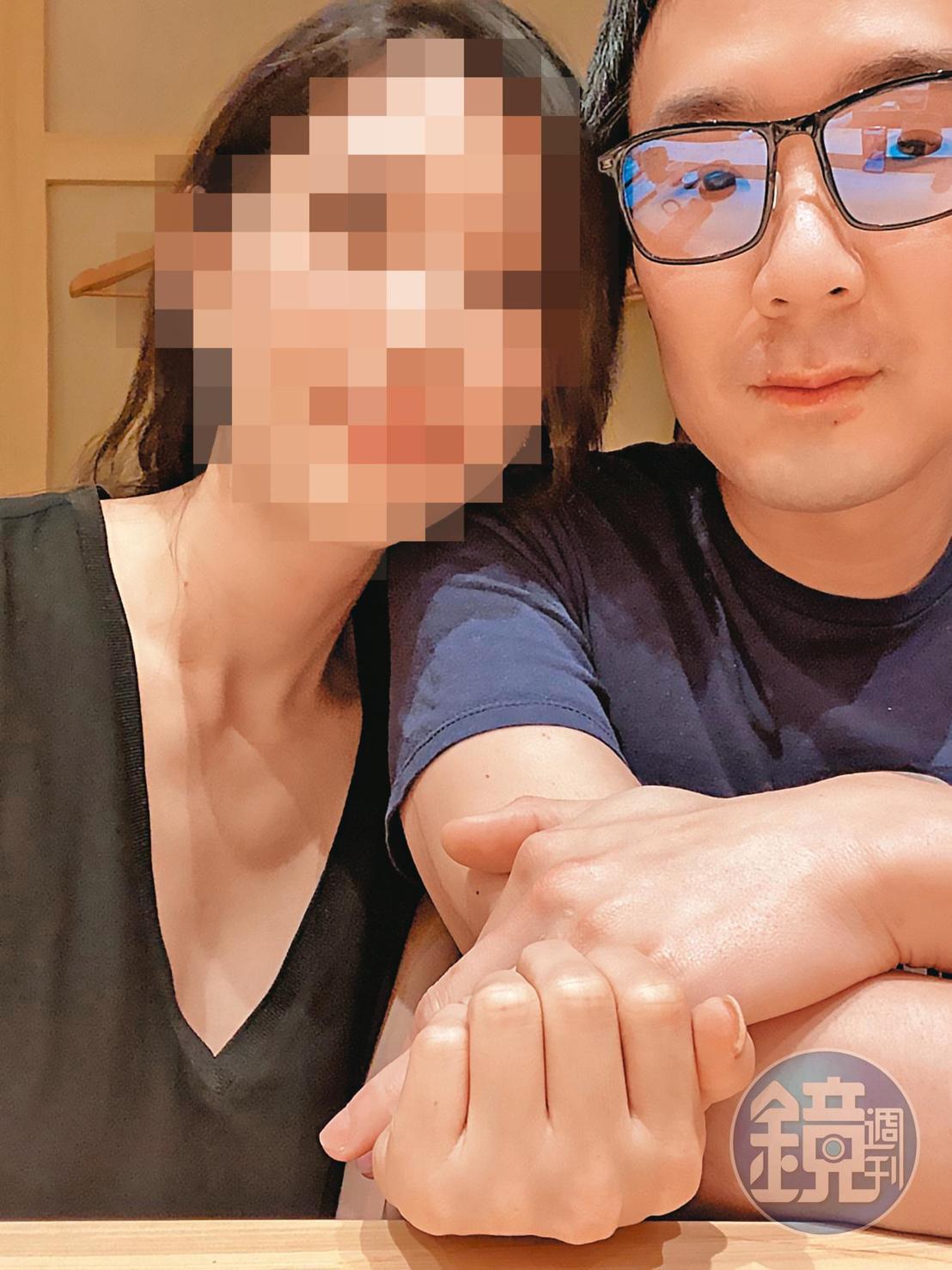 在外商公司擔任主管的K小姐(左),為了陳翰洋(右)墮胎,身心俱疲。(讀者提供)