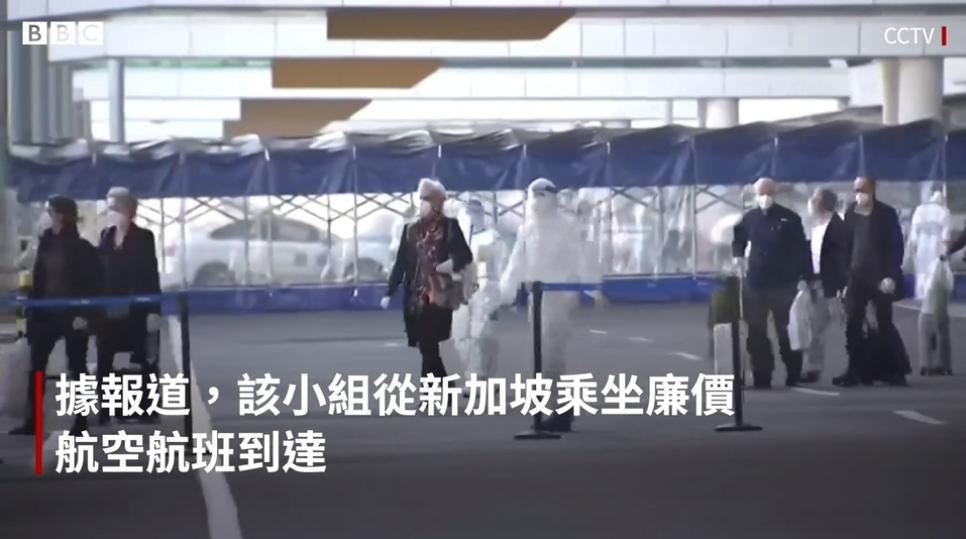 WHO的專家團1月飛抵中國武漢展開調查。(翻攝自BBC)