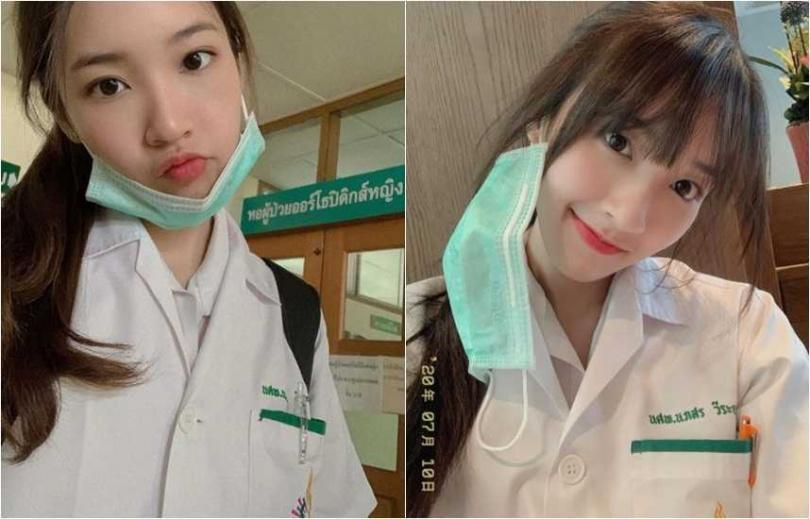 紅到台灣的泰國正妹Puimek(娜帕誦薇拉尤蒂萊),因外型亮麗,還是地方學霸,讓網友直喊「已戀愛」。(翻攝自Puimek IG)