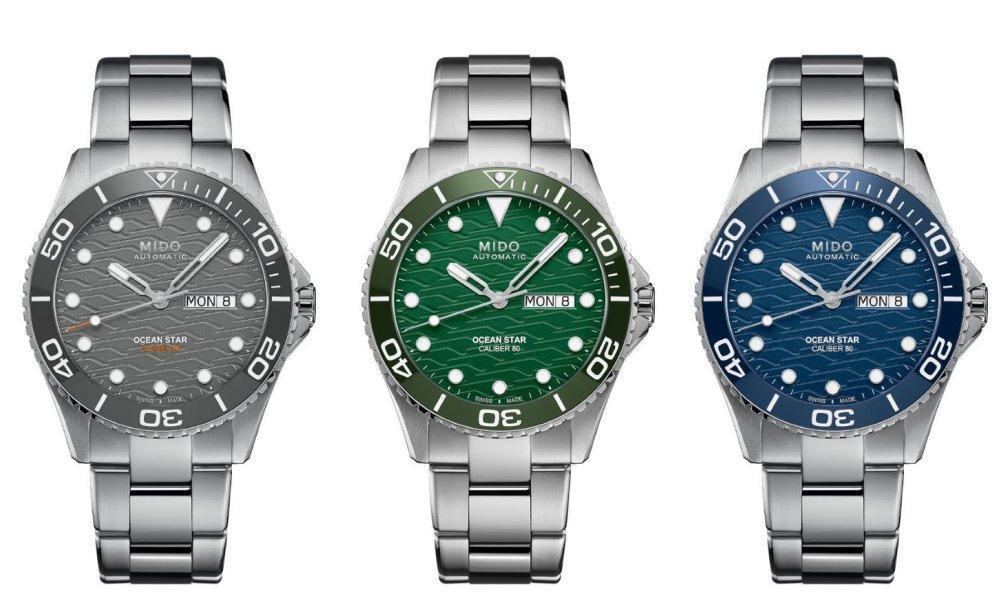 MIDO 美度Ocean Star 200C潛水錶,目前共有三個顏色。