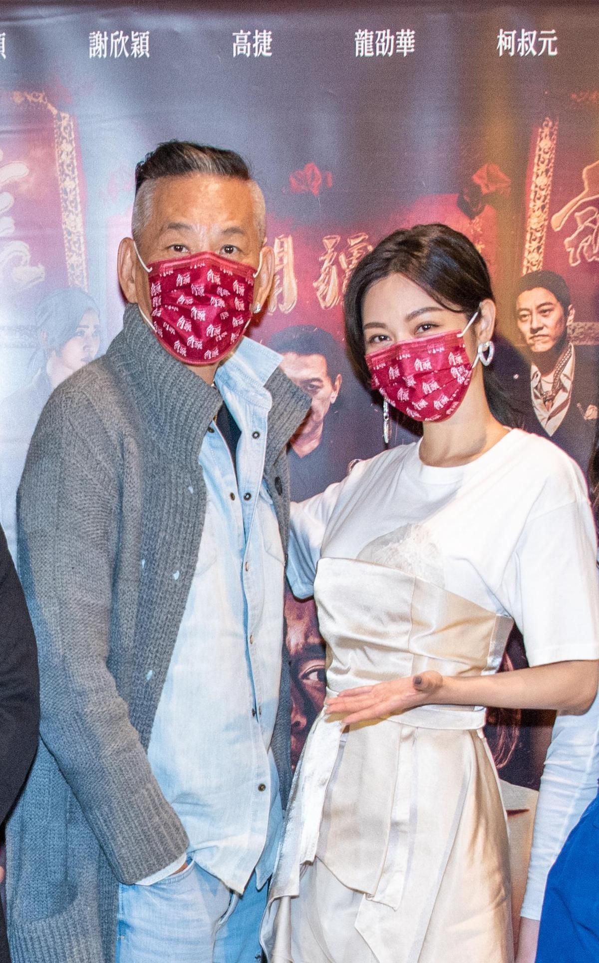 《角頭—浪流連》(左)龍劭華、曾菀婷今天在高雄的粉絲見面會。(齊石傳播提供)