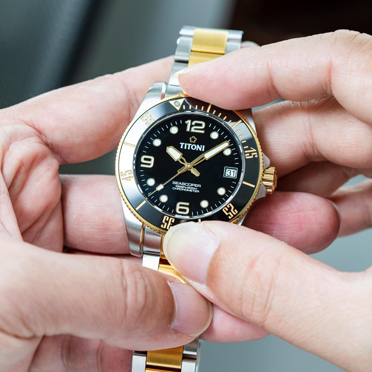 Seascoper 600系列有著典型的潛水錶元素,至於自製機芯、防水600米,這些都是目前入門潛水錶高標的水準。