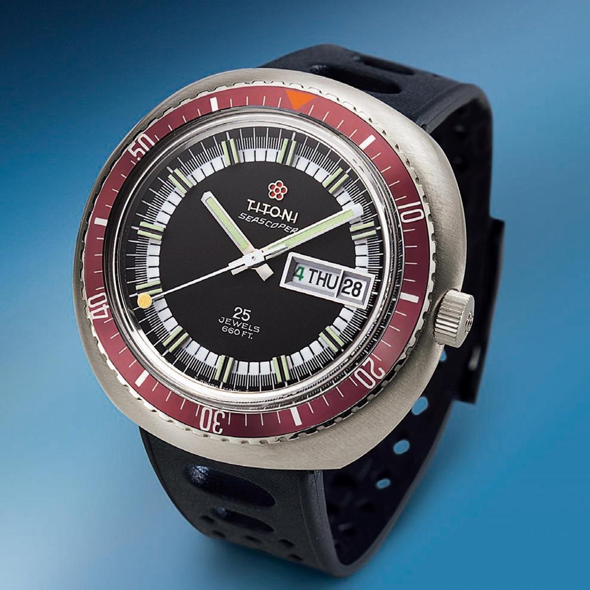 梅花錶在70年代所製作的Seascoper潛水錶。